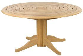 Table Lattes Circulaires et pied central Diam