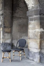 Chaise Sofie Tressage Noir