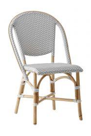 Chaise Sofie Tressage gris avec points blancs