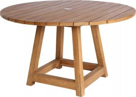 Table teck Georges Ø120cm