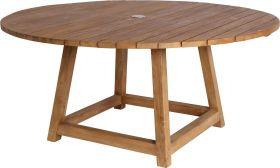 Table teck Georges ronde Ø160cm