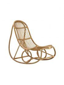 Rocking chair Nanny par Nana Ditzel Naturel